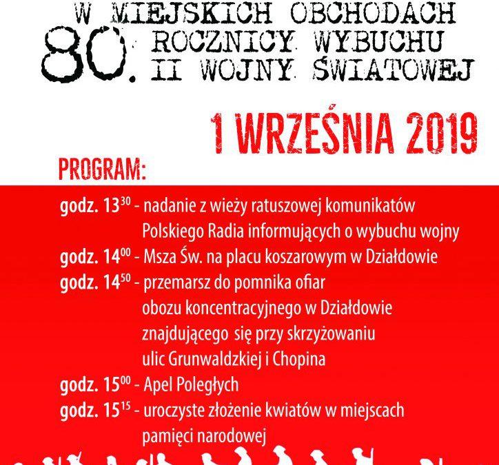 80. rocznica wybuchu II wojny światowej w Działdowie