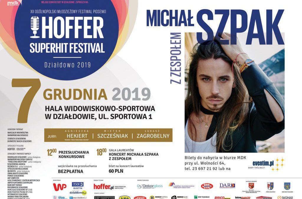 Oni zakwalifikowali się do udziału w XII OMFP Hoffer Superhit Festival' Działdowo 2019