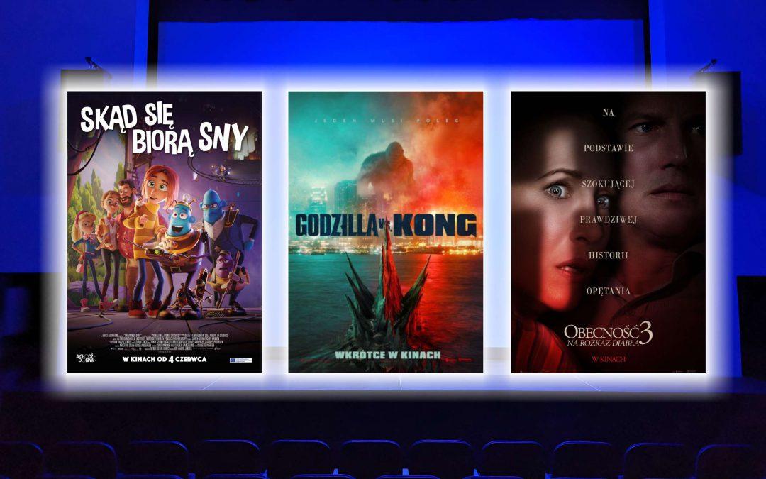"""""""Obecność 3: Na rozkaz diabła"""", """"Godzilla vs Kong"""" i """"Skąd się biorą sny"""". Zapraszamy do naszego kina"""